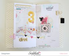 Scrapbook Werkstatt Tutorial – TN Gestaltung – think pink & mint Travel Journal Scrapbook, Travel Journals, Project Life, Journaling, Travel Log, Crate Paper, Scrapbook Paper, Scrapbooking Ideas, Planner Organization