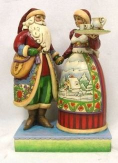 Image result for Jim Shore's Santa and Mrs. Claus Norwegian