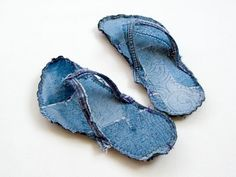 Recycled Jeans Crafts | How-To: Indoor Recycled Jeans Flip Flops