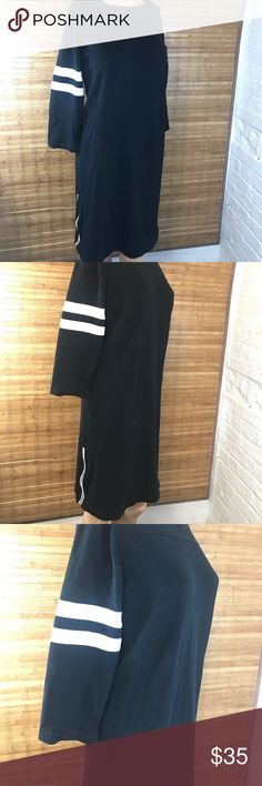 J. Crew loose size zipper gold dress causal sporty This is super chill day dress over sized dress looks more like a t shirt dress J. Crew Dresses Midi