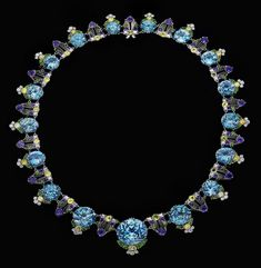 Jeweled zircon necklace by Louis Comfort Tiffany, 1918. Collection of Neil Lane. The Driehaus Museum.