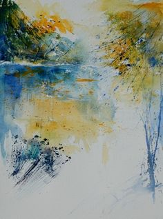 watercolor 013032, painting by artist ledent pol