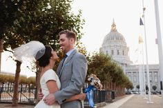 Bride and Groom just married at San Francisco City Hall