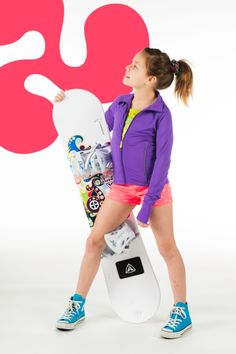 This triple flip girl is ready to hit the slopes!