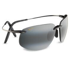 ca290f3a6b6 Maui Jim Mala Black Grey Sunglasses are made with titanium and high-grade  nylon