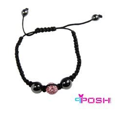 Shamballa Pink - Hematite and Pink Crystal Bead Bracelet Crystal Beads, Crystals, Fashion Jewelry, Product Launch, Beaded Bracelets, Hematite Bracelet, Gifts, Galleries, June