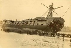 """El buque británico  """"Fulminante"""" en 1892"""