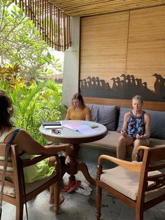 Our hotel in Ubud was quiet enough that holding a  guided meditation on the balcony was easy