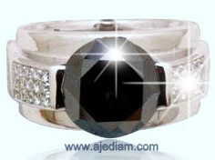 King Size black diamond solitaire engagement ring 8 carat Ref A383 image