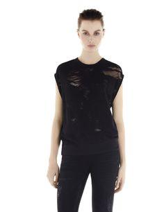 IRO. JEANS NUALA SWEATER - Burnout Sweater - Black - T-shirts IRO - Women - IRO