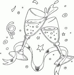 champagne toast coloring page - Coloring.com