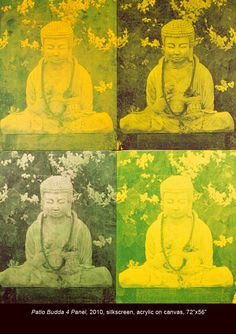 Buddhas in the Garden - Paintings by Hedy Klineman Oct. 3 - Dec. 12, 2013 at Tibet House US www.tibethouse.us