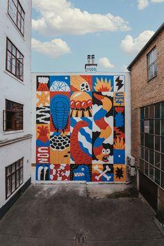 MURAL FOR CALLE LIBRE, VIENNA on Behance Murals Street Art, Street Art Graffiti, Mural Wall Art, Mural Painting, School Murals, Graffiti Murals, Tahiti, Public Art, Stencil