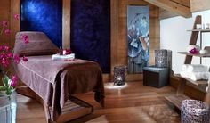 blue massage room