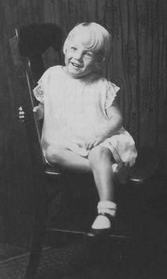 Studio portrait of 4 year old Norma Jeane, 1930.