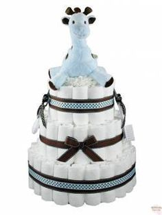Diaper Cake. Just don't know if it is a boy or girl yet.