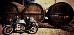 Bmw r100- old wine barrels