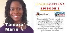 Tamara Marie Negringa Spanish con salsa Lingua Materna podcast Learning Centers, Learning Spanish, Learning Styles, Salsa, Teaching, Motivation, First Language, Learn Spanish, Study Spanish