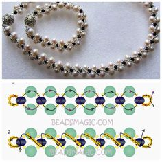 Colar pulseira You are in the right place about jewelry diy bracelets wire Here we of Seed Bead Jewelry, Bead Jewellery, Gold Jewelry, Jewelry Necklaces, Bead Embroidery Patterns, Beading Patterns, Loom Patterns, Knitting Patterns, Beaded Necklace Patterns