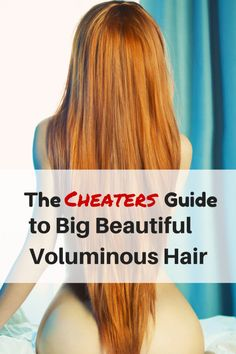I've always been at war with my hair. Although it is naturally soft and silky it is thin. It took me so many years to finally find the best solutions to create big beautiful voluminous hair! I've tried it all and just wanted to share with you what I learned: The CHEATERS Guide to Big Beautiful Voluminous Hair!