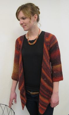 Knitting Pure and Simple - 1302 - Top Down Drape Front Cardigan