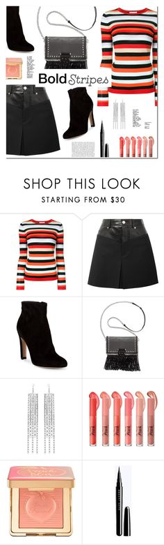 """""""Bold Stripes"""" by christinacastro830 ❤ liked on Polyvore featuring Bella Freud, Helmut Lang, Gianvito Rossi, INC International Concepts, Isabel Marant and Too Faced Cosmetics"""