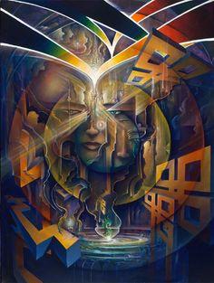 Gemini Chimera - visionary artist Michael Divine