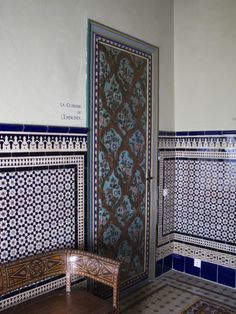 Mosaic everything. Hotel Nord Pinus-Tanger in Morocco
