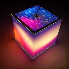 Create a celestial mood in your home with this constellation cube lamp. Labelled constellations teach you all about the night sky. The cube light sits on a table or hang it for a unique display. A great conversation starter! <br>  <ul><li> Material: polyester film with matte surface; wipes clean with water </li>  <li> 11.8 x 11.8 x 11.8 inches </li>  <li> Includes plugs for US, UK & Europe </li>  <li> Recommended bulb: LED or CFL bulb, 10 watts </li> </ul>