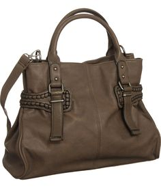 """Brown V Couture by Kooba """"Stitched"""" Crossbody Satchel"""