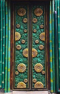 The colors on this ornate door in Bali, Indonesia are completely mesmerizing! Doors of the world. Door Entryway, Entrance Doors, Doorway, Cool Doors, Unique Doors, When One Door Closes, Knobs And Knockers, Door Gate, Architectural Elements
