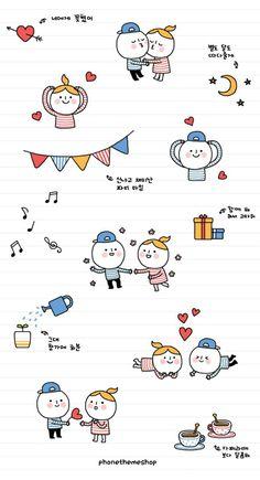 Ideas Baby Art Drawing Doodles For 2019 Kawaii Wallpaper, Pastel Wallpaper, Iphone Wallpaper, Kawaii Stickers, Cute Stickers, Cute Easy Drawings, Kawaii Illustration, Cute Backgrounds, Cute Cartoon Wallpapers