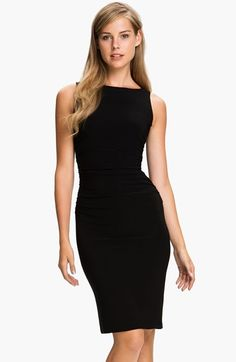 A nice little black dress.   KAMALIKULTURE Shirred Sleeveless Dress at Nordstrom.com. Strategic ruching at the side and center-back seams heightens the feminine impact of a sleeveless dress with just the right amount of stretch.