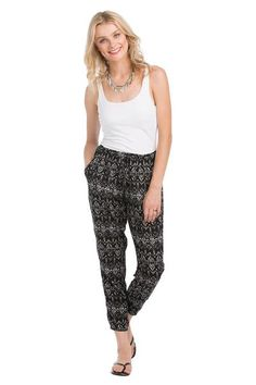 Tahiti 2-piece Jumpsuit (bottom paired with white halter top)