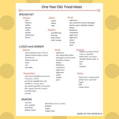 Healthy Snacks Toddler Food Ideas and Menu Plan One Year Old Foods, 1 Year Old Meals, Meals For One, One Year Old Meal Plan, 1 Year Old Snacks, 1 Year Old Meal Ideas, Toddler Menu, Toddler Snacks, Banana Waffles