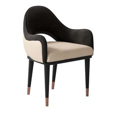 Black and White Chair Cipriani Homood - Artemest White Furniture, Luxury Furniture, Modern Furniture, Furniture Design, Furniture Upholstery, Furniture Storage, Quality Furniture, Accent Chairs Under 100, Small Accent Chairs