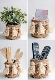 How to make a darling DIY rope basket