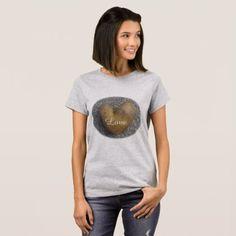 Love heart T-shirt grey - love gifts cyo personalize diy