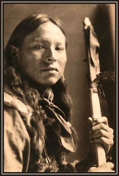 Takes Enemy, Sioux warrior. Photographed by Gertrude Kasebier, circa 1898.