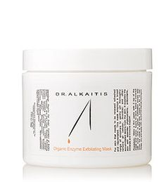 Dr. Alkaitis Organic Exfoliating Enzyme Mask: ideal for skin that needs to be renewed, refreshed, and rejuvenated. It's a gentle & effective anti-aging treatment. It thoroughly removes all of the accumulated debris in the skin, while supplying essential phyto-nutrients, antioxidants, & minerals. Also has a brightening & lightening effect. biologically active and made from pre-digested ingredients increasing their therapeutic potential.Mix with water to activate. $55