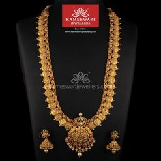 Buy Necklaces Online | Antique Kundan Ramparivar Mala from Kameswari Jewellers