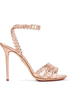 d59ec2df2dc CHARLOTTE OLYMPIA I Heart You Laser-Cut Metallic Leather Sandals.   charlotteolympia  shoes