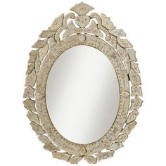 """Kichler Petite Oval Antique Beveled Frame 28"""" Wall Mirror $196"""