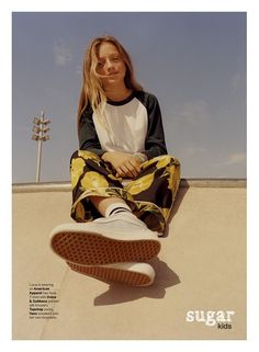 Lucia from Sugar Kids for MilK Magazine by Mark Shearwood. Skater Girl Outfits, Skater Girls, Kids Fashion Photography, Children Photography, Tween Fashion, Girl Fashion, Cheap Fashion, Fashion Clothes, Topshop Socks