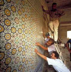 islamic art and architecture | tilework are mounted and aligned. This quintessentially Morocan art ...