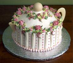 """Торт на фарфоровую свадьбу """"Чайничек""""... Teapot cake!"""