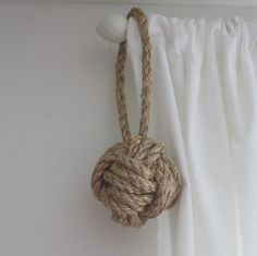 Nautical Rope Ball Ornament $14
