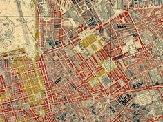 Charles Booth's London Poverty Map (detail) (1889).