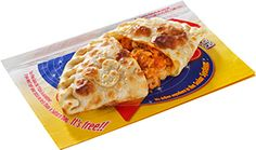 Calzone of chicken and tomatoes Pan Galactic Pizza Port