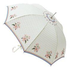 This elegant Lisbeth Dahl umbrella is a very pretty pagoda umbrella. A pretty cream umbrella with black lace trim by design house Lisbeth Dahl. Floral Umbrellas, Cute Umbrellas, Umbrellas Parasols, Golf Umbrella, Under My Umbrella, Fancy Umbrella, Nylons, Antique Fans, Brollies